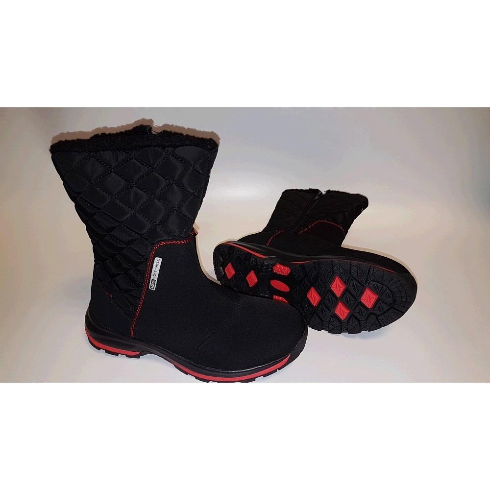 f1d32d43c0f Dámská zimní obuv DK GRACE softshellová černá modrá - Zimní ...