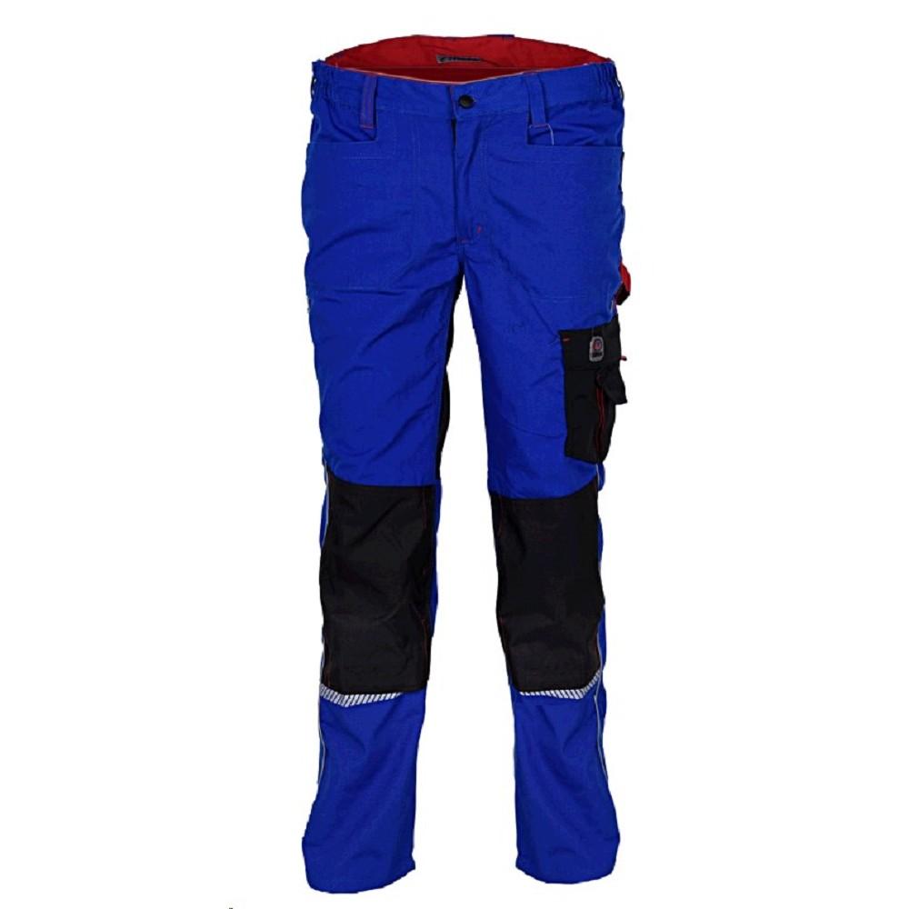 Montérkové kalhoty 20312 do pasu reflexní doplňky královská modrá černá  Workwear b62fc8c072