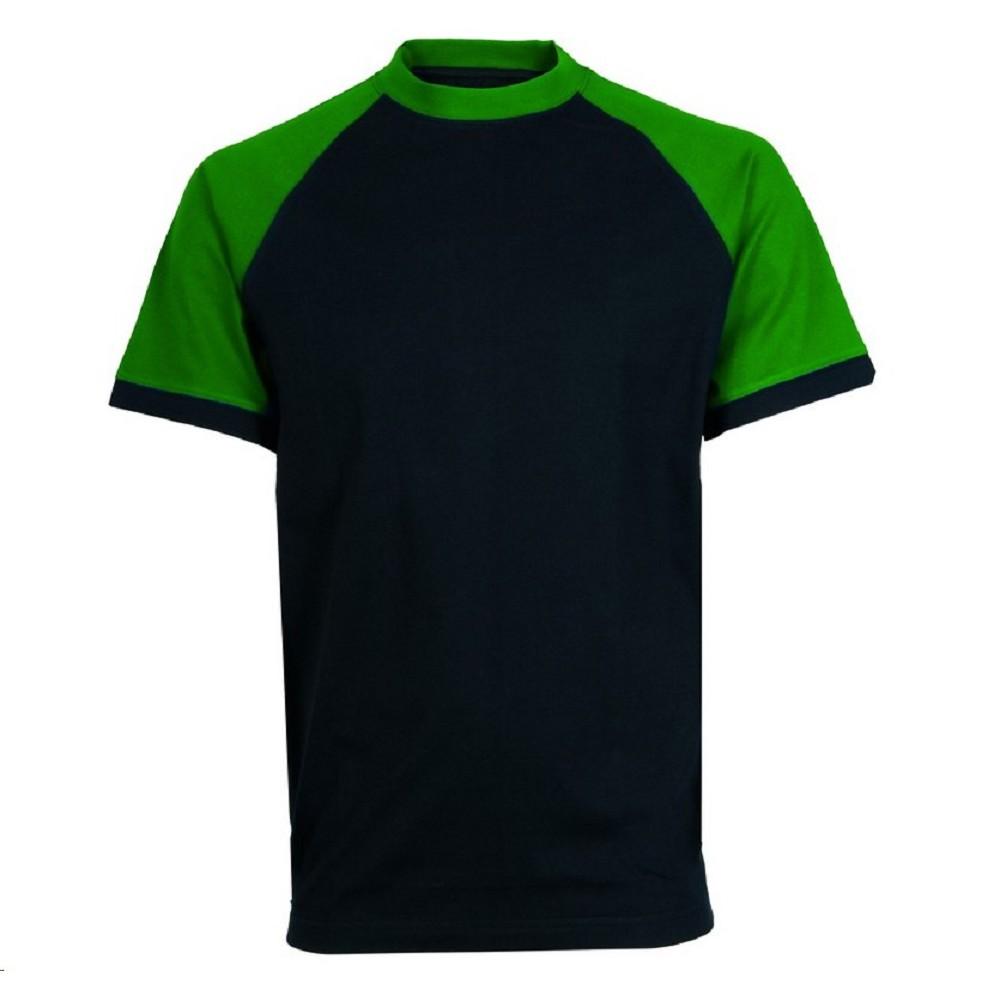 68566e55ec12 Triko OLIVER pánské s krátkým rukávem 100% bavlna černo-zelené ...