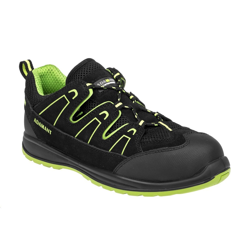 9f98b71a9c9 Obuv ADM ALEGRO S1P GREEN sandál s ocelovou špičkou a tužinkou černo-zelené