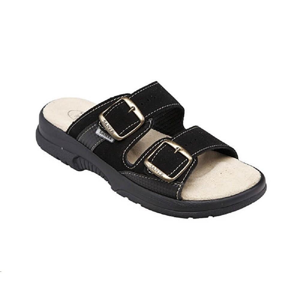 129ecce23fa6 Pantofle dámské SANTÉ 517 33 přezky černé