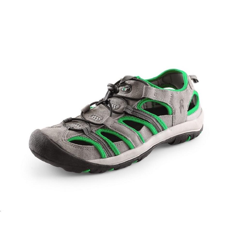 fedcd04c352 Obuv SAHARA kombinované outdoorové sandále šedo-zelené - Sandál ...