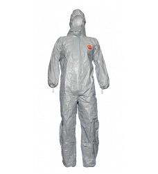 Kombinéza ochranná TYCHEM F, šedá, antistatická, voděodolná, s kapucí
