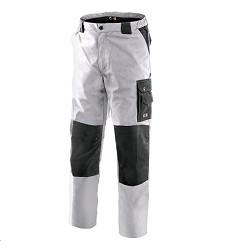 Montérkové kalhoty SIRIUS NIKOLAS pánské pasové zesílená kolena světle šedé
