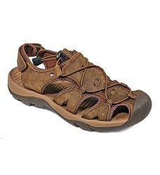 Sandále TROON kožené pánské,textilní podšivka, uzavřená špíčka, hnědá