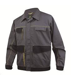 Montérková bunda D-MACH pánská, Manžety na rukávech s patentem, žlutá-šedá