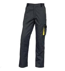Montérkové kalhoty D-MACH pasové, pánské, Elastické stahování v pase, šedá-žlutá