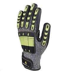 Rukavice EOS NOCUT VV910, protipořezové, dlaň. část nitrilový povlak, zeleno/šedo/černé