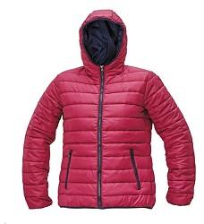Bunda FIRTH LADY růžová zimní dámská prošívaná s kapucí