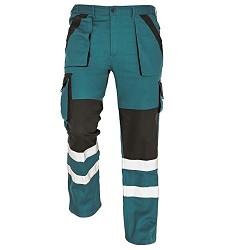 Montérkové kalhoty pasové MAX REFLEX, zeleno-černé, 260g/m2