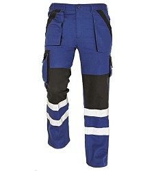 Montérkové kalhoty pasové MAX REFLEX, modro-černé, 260g/m2