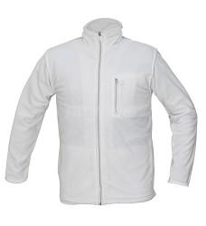 Bunda KARELA fleecová unisex 100 % polyester 280g/m2 bílá