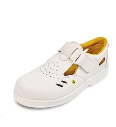 Sandál RAVEN S1 SRC, ESD, bílý, s kompozitní tužinkou, metal free