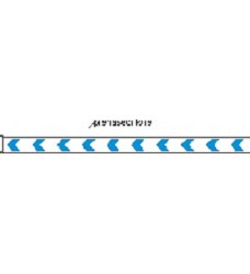 Varovné pásky na skleněné výplně dveří-modré šipky,100x5 cm