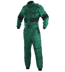 Kombinéza zimní CXS LUXY ALASKA 1055-VV, zdvojená kolena, 260g/m2 zeleno/černá