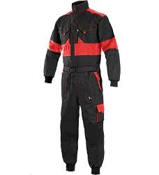 Kombinéza CXS LUXY ROBERT, černo-červená ,pánská, zdvojená kolena, 1013-VV