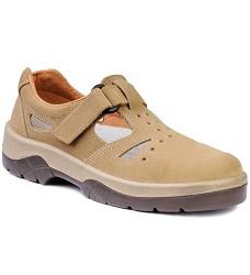OMEGA SPORT 01, sandál pracovní bez ocelové špice, hnědý velur