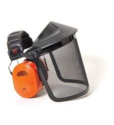 Chránič mušlový BUSHMASTER s drátěným štítem SRN:30 dB JSP