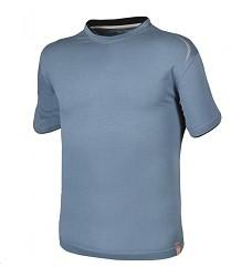 Triko R8ED+ H9704 pánské s krátkým rukávem 100% bavlna, 200 g/m2 modré