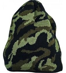 Čepice CRAMBE pletená unisex s fleecovou podšivkou olivová camouflage