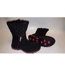 Dámská zimní obuv DK GRACE softshellová černá/modrá