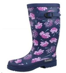 Gumové holínky dámské LENA 2392 fialové květy