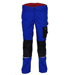 Montérkové kalhoty 20312 do pasu reflexní doplňky královská modrá/černá Workwear