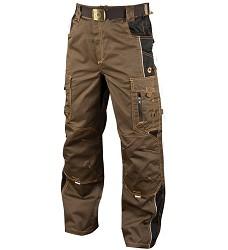 VISION montérkové kalhoty pasové H9143, Tarmac khaki prodloužení 194
