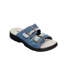 Pantofle dámské SANTÉ DM/125/33 přezky modré