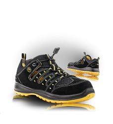 Sandál MEMPHIS 01 ESD pracovní kožená s textilem černo-žlutá