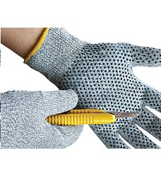 Rukavice CROPPER DOTS s PVC terčíky protipořezové bezešvé
