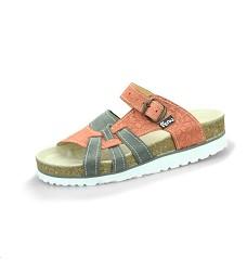Pantofle PEON PE/140-62 dámské šedo/oranžové