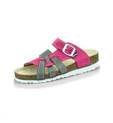 Pantofle PEON PE/140-611 dámské šedo/růžové