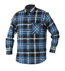Flanelová košile JONAH H20086 modrá 100% bavlna