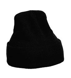 Čepice pletená MESCOD černá 100% akryl vel.L  74g