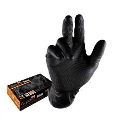 Jednorázové nitrilové rukavice GRIPPAZ 246A černé 50ks