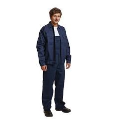 Montérková souprava RALF BE-01-005 kalhoty s laclem a bunda navy 100% bavlna 240g/m2