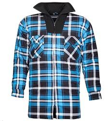 Flanelová košile JONAH h20087 modrá zimní 100% bavlna