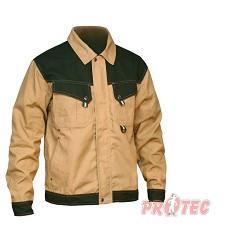 Montérková bunda pánská  NARELLAN,320g/m2 DOPRODEJ  béžovo/černá