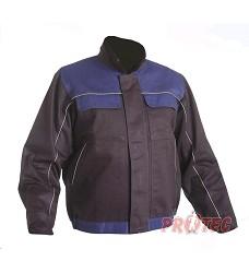 Montérková bunda AMISO, 100% bavlna, modrá, zelená