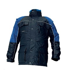 Bunda STANMORE pánská zateplená 3v1 100% polyester, modrá