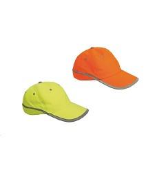 Čepice TAHR baseballová reflexní žlutá | oranžová