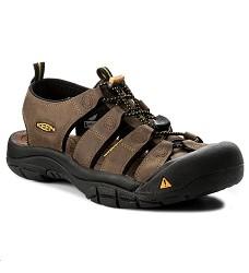 Obuv KEEN NEWPORT BISON 1001870 pánské kožené rychleschnoucí sandále bisn
