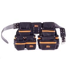 Pás montážní na nářadí- nylon černý 21 kapes