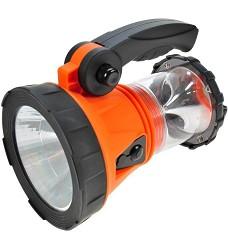 Nabíjecí LED svítilna s lucernou SOLIGHT WN14, 1x3W LED + 15xLED, oranžovočerná