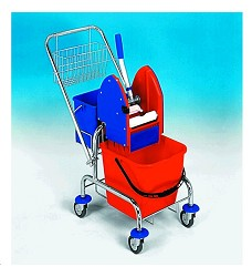 Úklidový vozík CLAROL 21005CL, 1x17, kompletní výbava