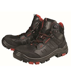 Pracovní obuv EGHOLM S3, kotníková, černo/červená