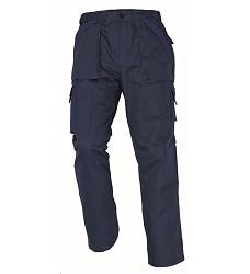 Montérkové kalhoty MAX pasové 100% bavlna, 260g navy/královská modrá
