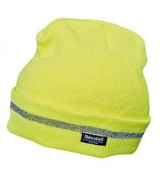 Čepice TURIA reflexní pletená 100% akryl, zateplení 3M Thinsulate žlutá