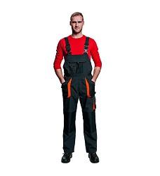 Montérkové kalhoty EMERTON WINTER zimní s laclem černo-oranžové